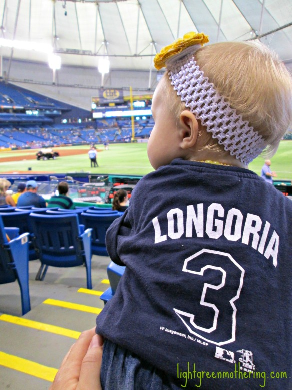 H. at the Rays game.
