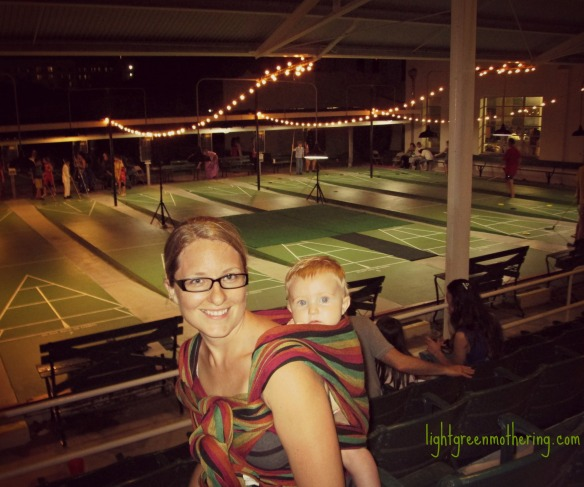 Babywearing and Shuffleboarding