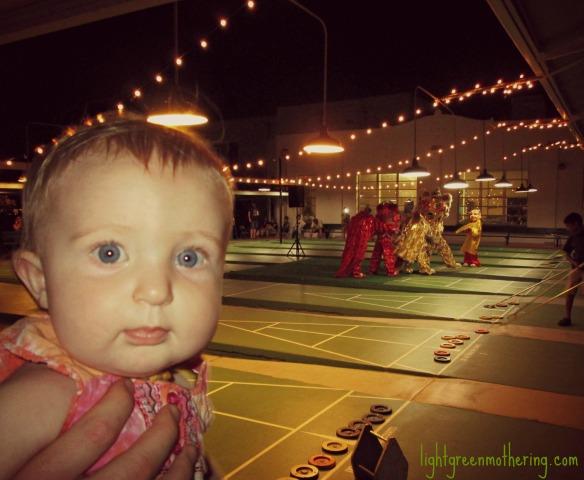 Shuffleboarding Baby.