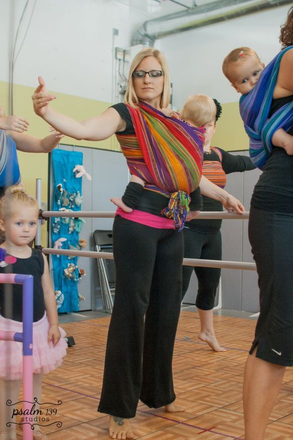 Photo: Psalm 139 Studio Babywearing Ballet ~ lightgreenmothering.com