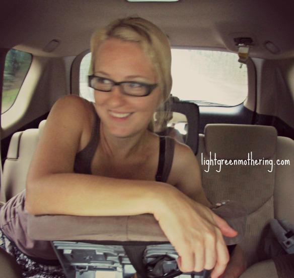 Nursing on the go. ~lightgreenmothering.com