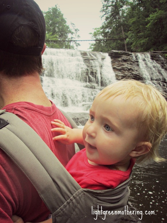 Harlow likes waterfalls ~lightgreenmothering.com