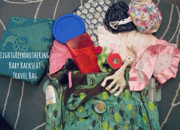 Backseat Baby Bag ~ lightgreenmothering.com