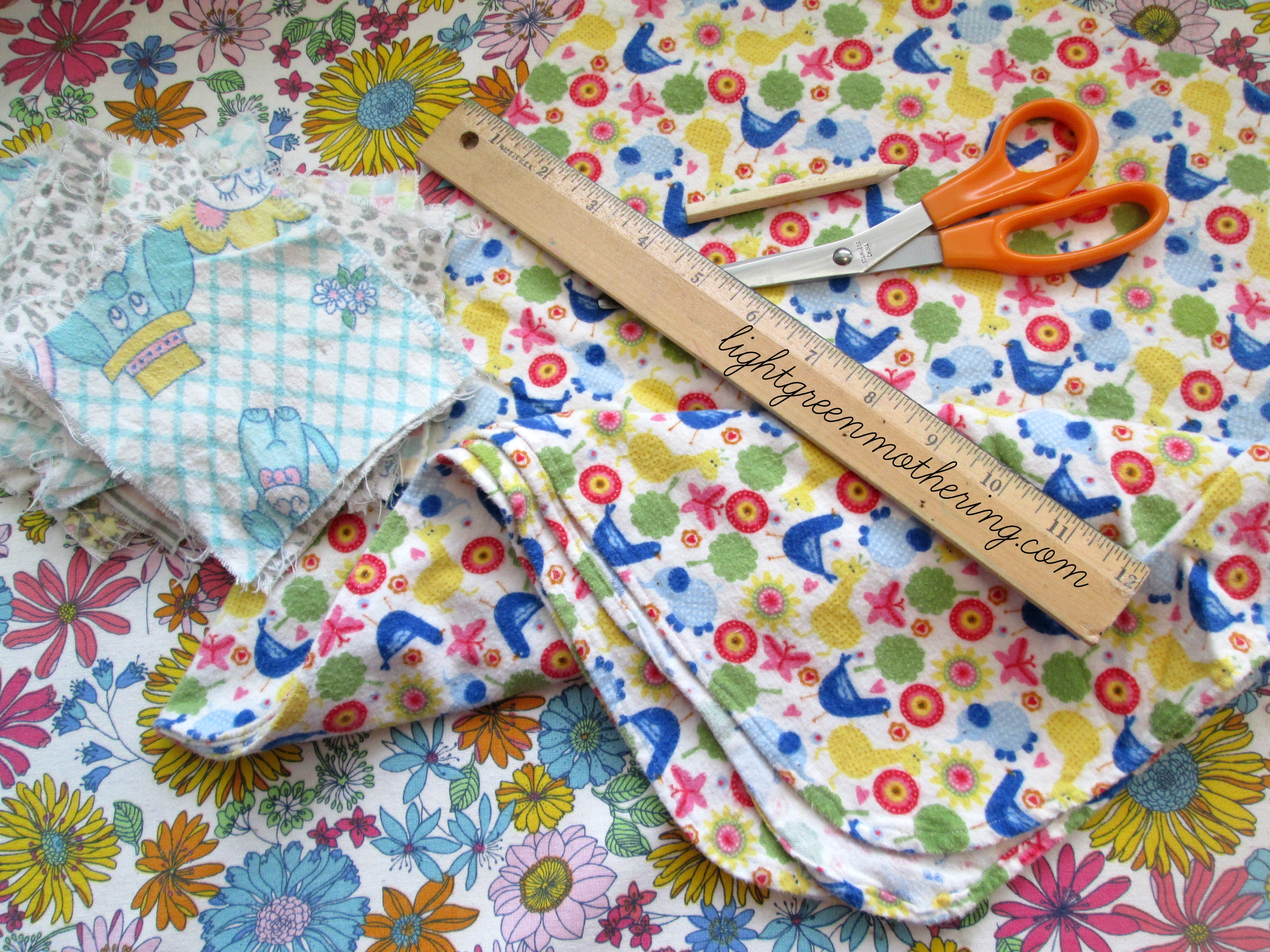 DIY No Sew Cloth Baby Wipes