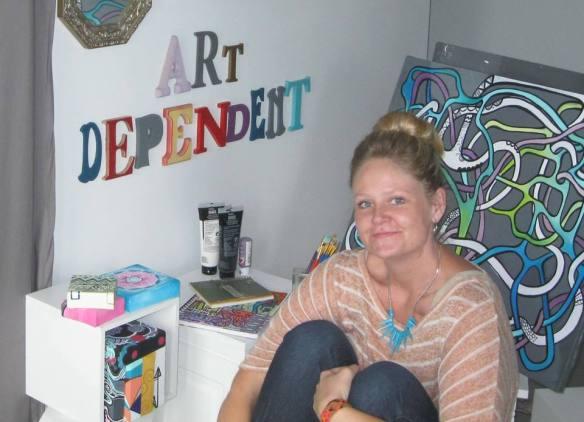 Jillian of Art Dependent. ~lightgreenmothering.com